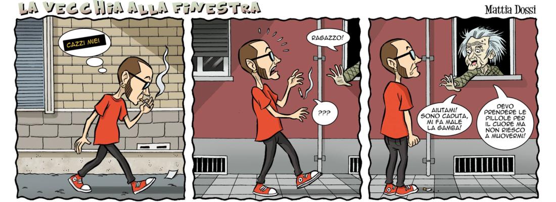 LA VECCHIA ALLA FINESTRA