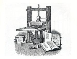 Torchio tipografico di Gutemberg, ricostruzione