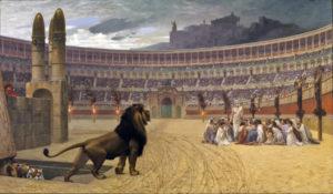 Cristiani nell'arena in attesa del martitio