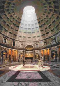 Il Pantheon a Roma miracolosamente intatto