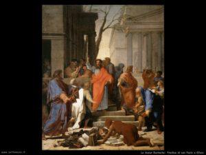 """San Paolo predica ed assiste al rogo dei libri ad Efeso. dagli """"Atti degli Apostoli"""""""