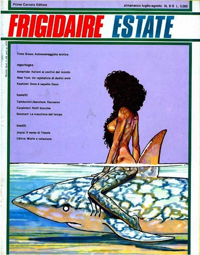 rockit-frigidaire-almanacco-estate-07-08-1981-copertina-betta-sullo-squalo-andrea-pazienza-musa-ispiratrice-elisabetta-pellerano