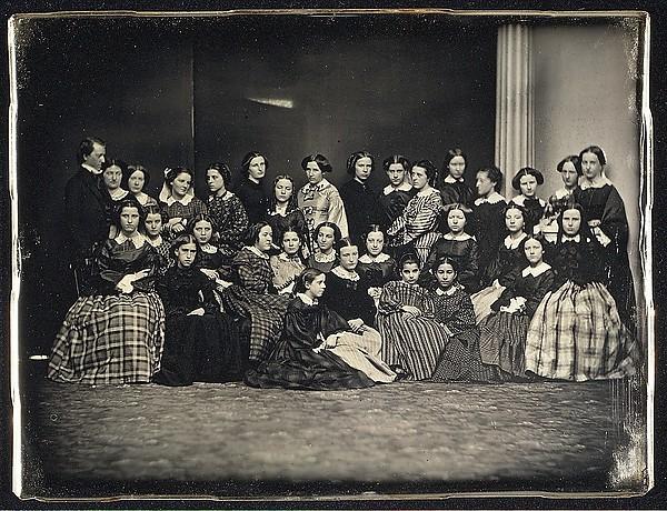Emerson School, foto di gruppo, 1850 ca.