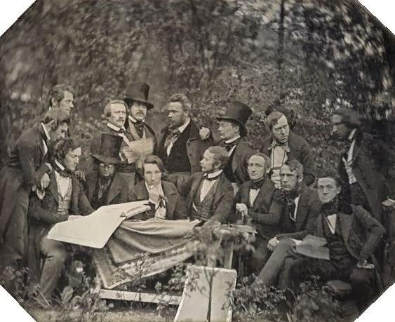 La scampagnata del Club degli Artisti di Amburgo; Amburgo, 1843