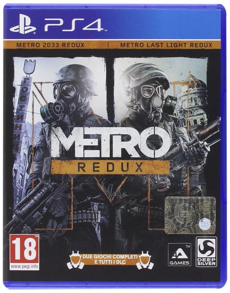 """Copertina della versione PS4 della raccolta """"Redux"""" dei videogiochi Metro 2033 e Metro: Last Light"""