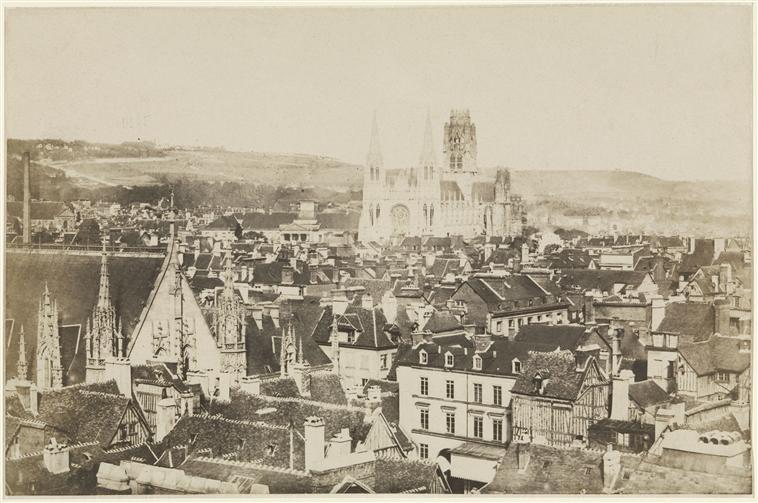 H. Bayard: Abbazia di Saint-Ouen (Rouen); ca. 1851