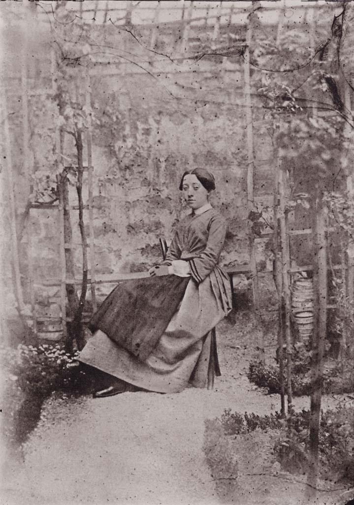 Ritratto di ragazza nel giardino di Bayard; 1847