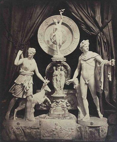 H. Bayard: Composizione con sculture di Diana e Apollo; 1855