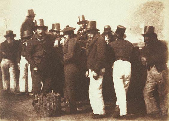 Hill & Adamson: pescatori di Newhaven; 1845