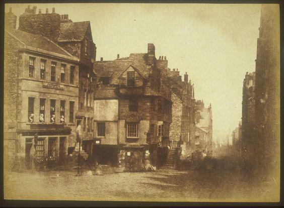 Hill & Adamson - Abitazione di John Knox, Edimburgo; 1844