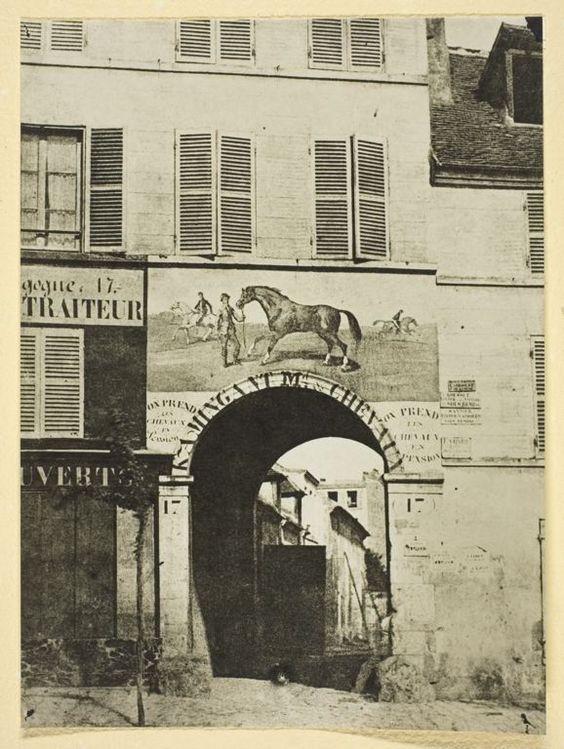 Insegna di un mercante di cavalli; 1842-50