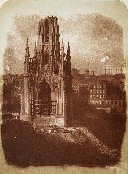 Hill & Adamson: Lo Scott Monument in costruzione; 1843