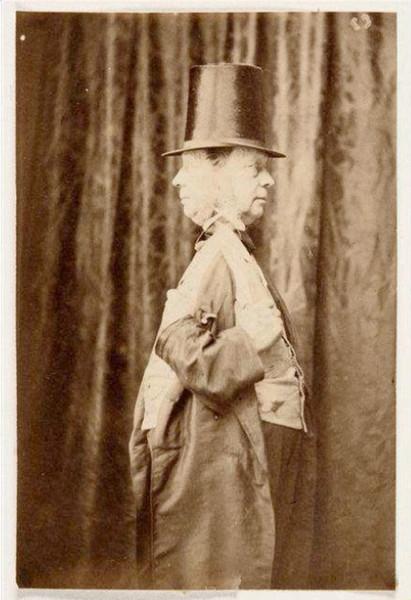 H. Bayard: Doppio autoritratto di profilo; 1860-66