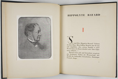 "Gian Maria Lo Duca: ""Bayard. Der Erste Lichtbildkünstler"" (Parigi, 1943. Prima edizione. Frontespizio e tavola a fronte."