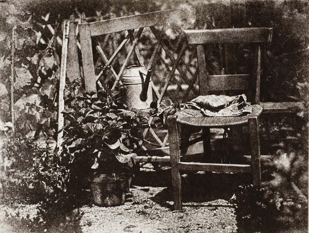 H. Bayard: Sedia in un giardino; 1842-1850