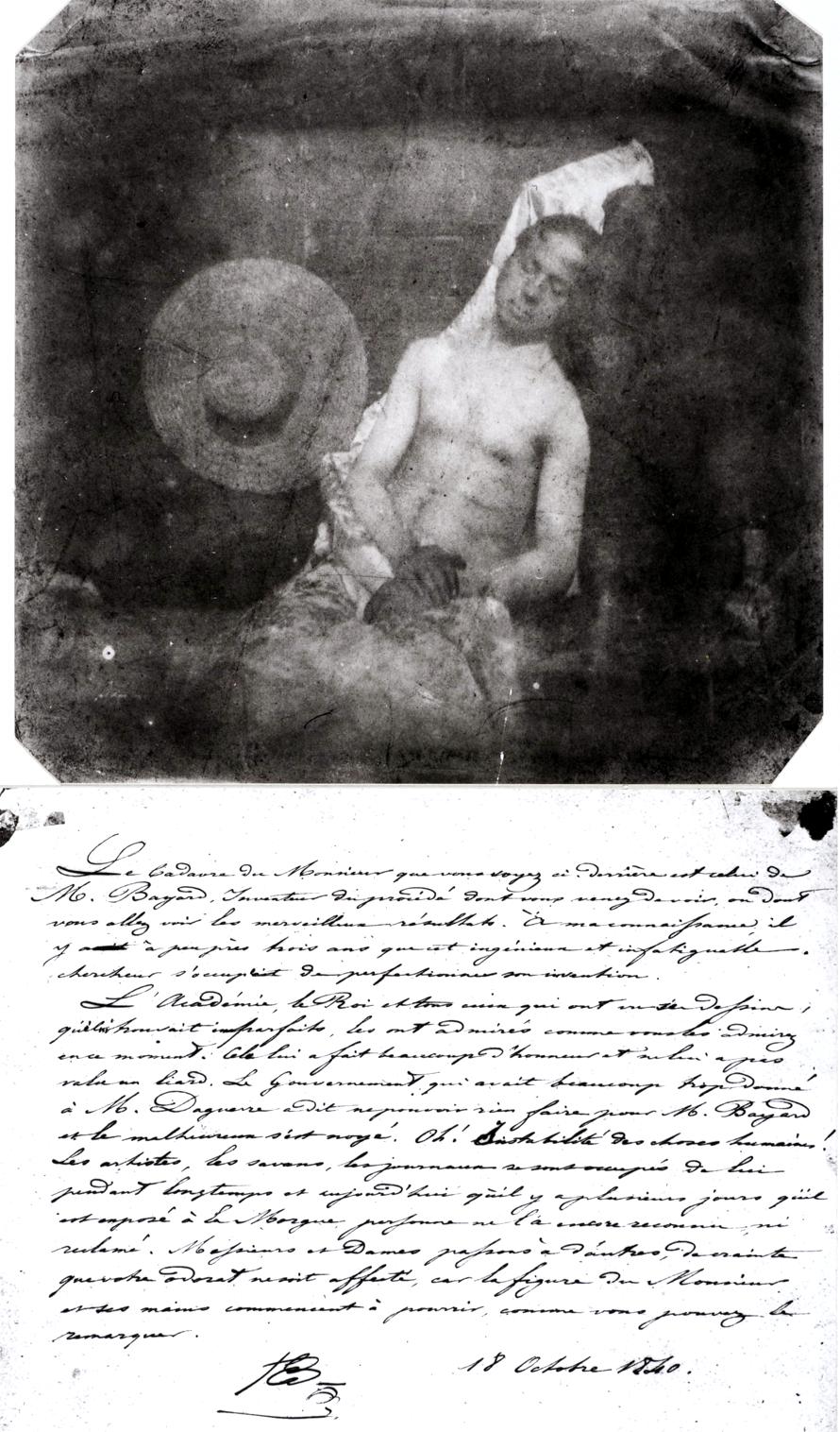 """Bayard: Autoritratto """"L'annegato""""; 1840"""