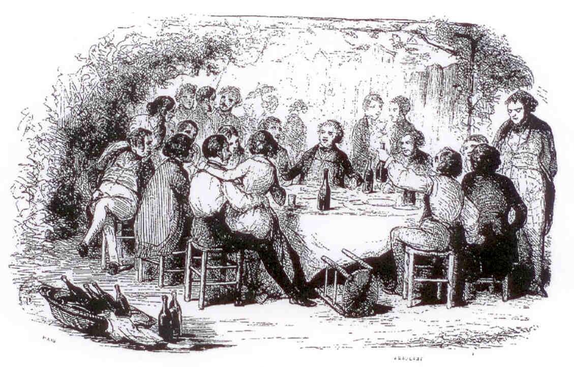 Una goguette nel 1844