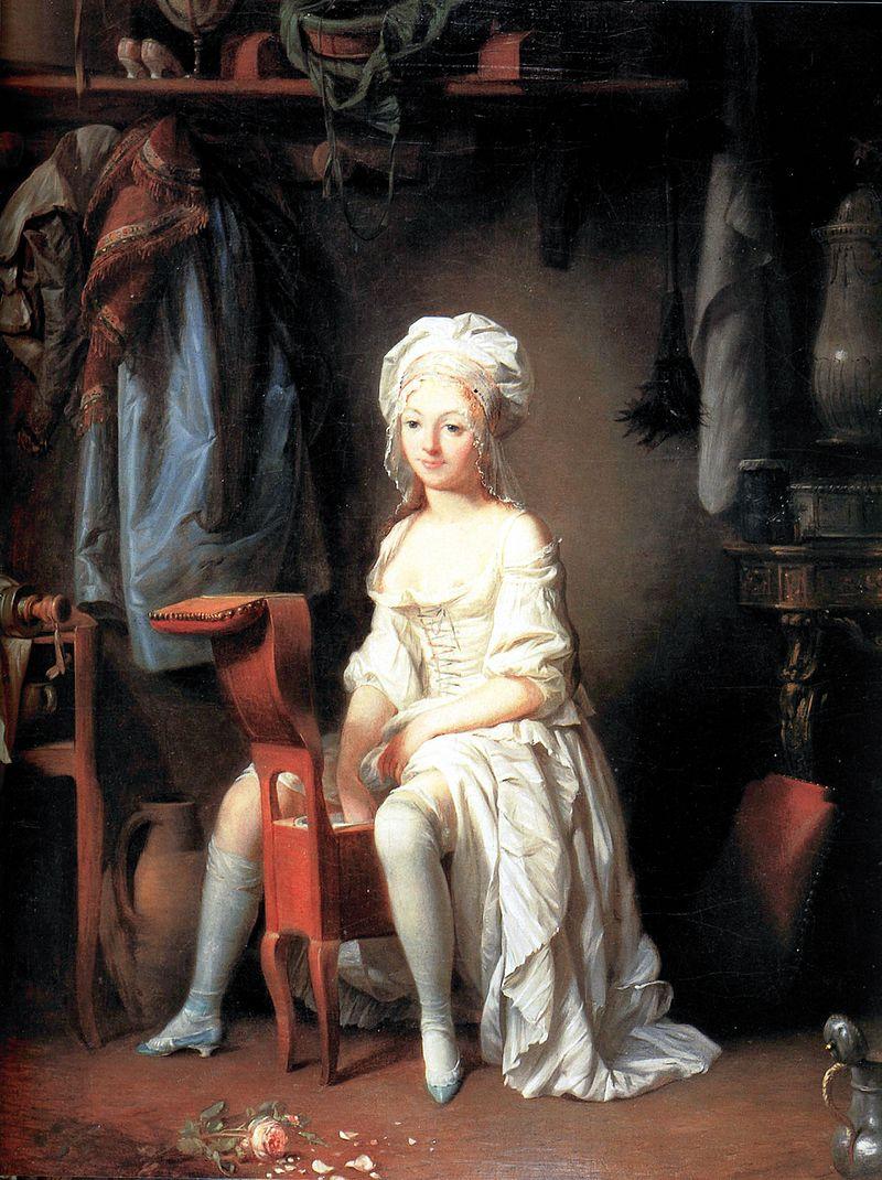 La Toilette intime ou la Rose effeuillée di Louis Léopold Boilly