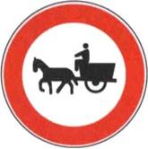 Cartelli: divieto di transito per veicoli a trazione animale