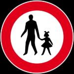 Cartelli: divieto di transito ai pedoni