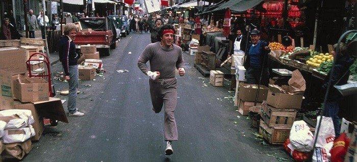 La scena in cui Rocky attraversa il mercato
