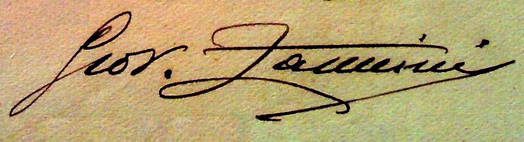 Giovanni Zannini firma