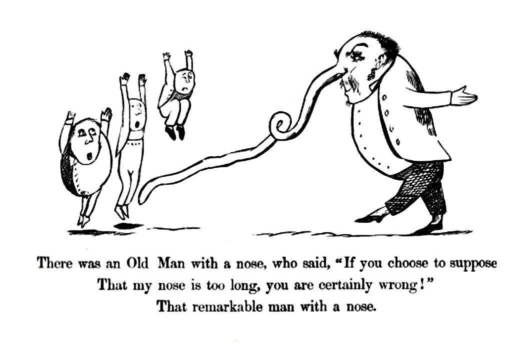 Edward Lear, naso modellabile