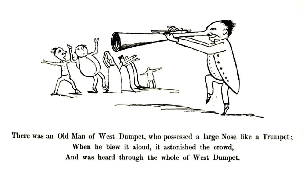 Edward Lear, naso a tromba
