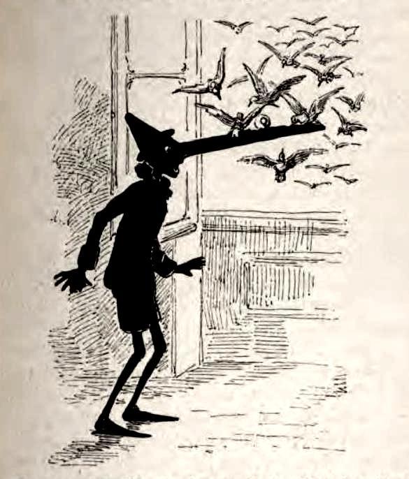 """Enrico Mazzanti, """"Le avventure di Pinocchio"""", 1883 (prima edizione libraria)"""