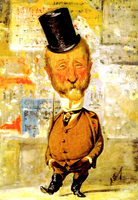 Angiolo Tricca, caricatura di Carlo Collodi,1875