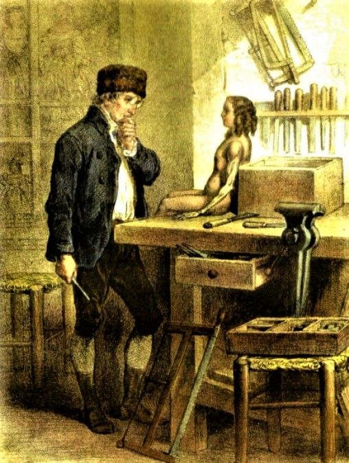"""François Janet, """"La poupée parlante"""", 1862"""