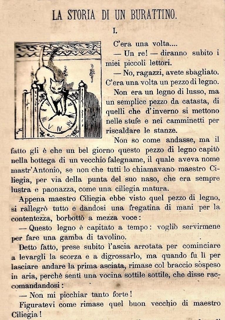 """7 luglio 1881: esordisce sul """"Giornale per i bambini"""" """"La storia di un burattino"""""""