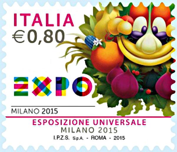 Francobollo EXPO 2015