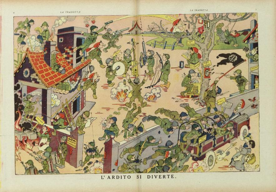 """Rubino: La Tradotta (N. 18), """"L'Ardito si diverte"""""""