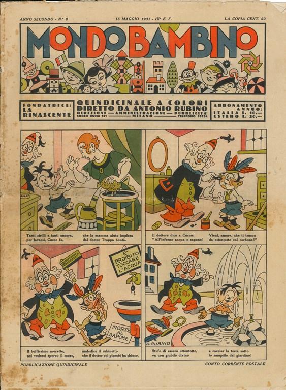 Rubino: Mondo Bambino, Anno II, N. 8, 1931