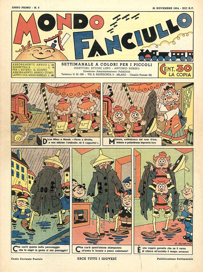 Rubino: Mondo Fanciullo, Anno I, N. 3, 1934