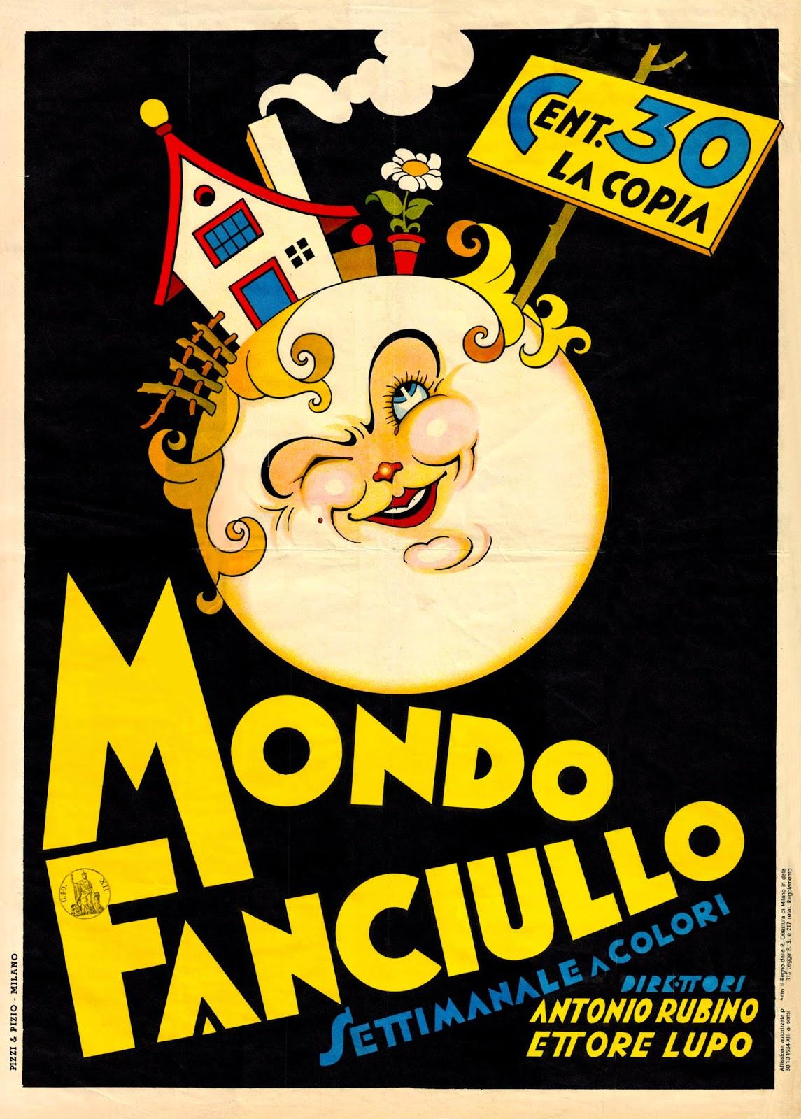 Rubino: locandina pubblicitaria di Mondo Fanciullo, 1934