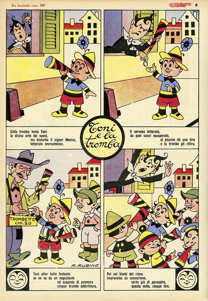 Rubino: Il Cartoccino dei Piccoli, Anno II, N. 12, 1930
