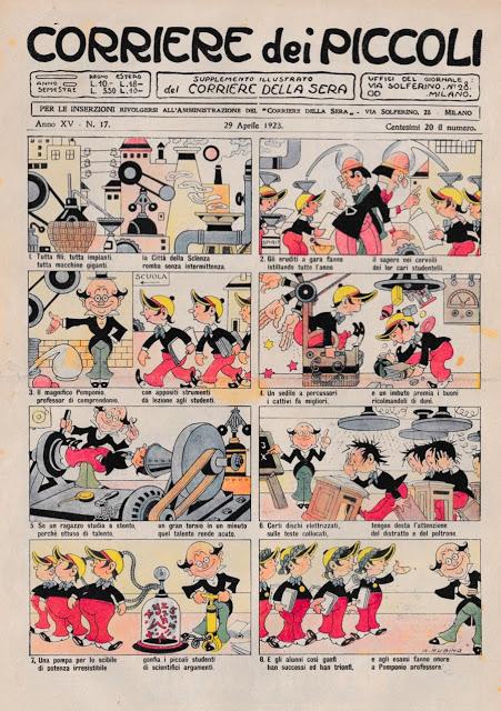 Rubino: una storia di Pomponio, Tito Tonto e Dinamello, apparsa sul Corriere dei Piccoli, N. 17 del 1923