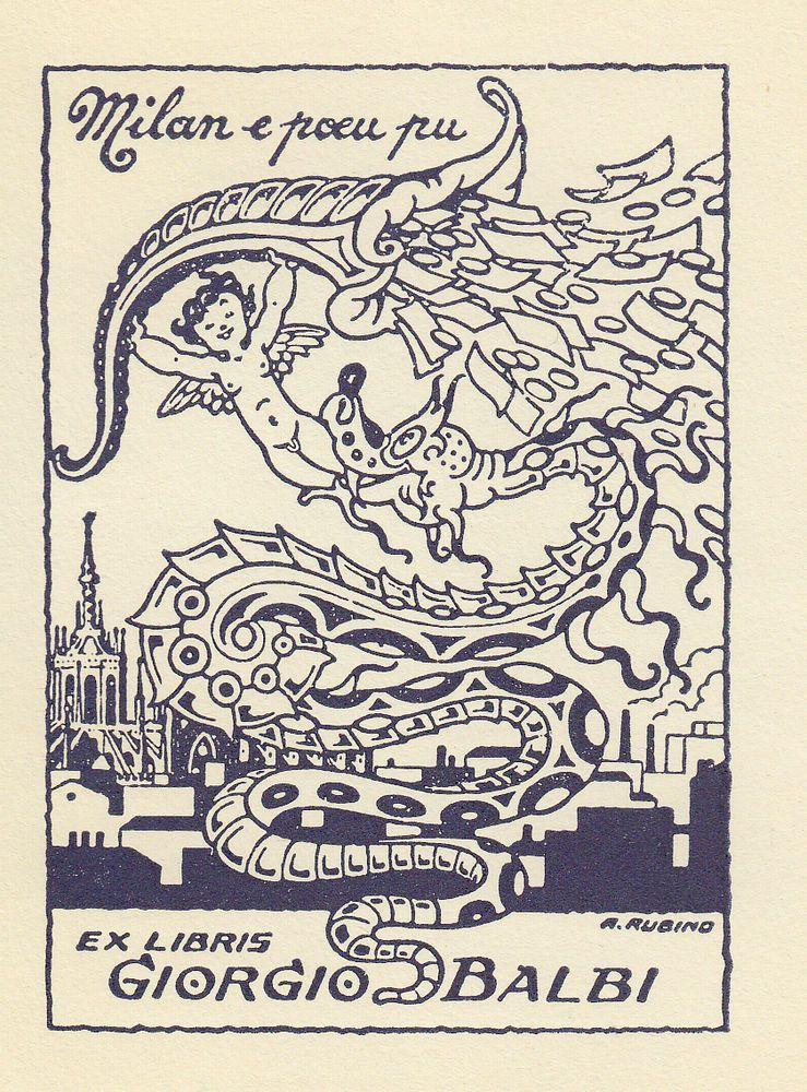 Rubino: ex libris per Giorgio Balbi