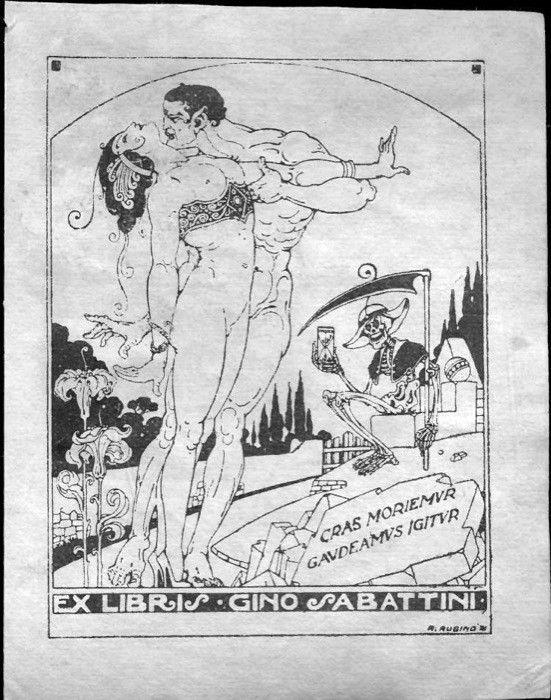Rubino: Ex Libris Gino Sabattini, circa 1920