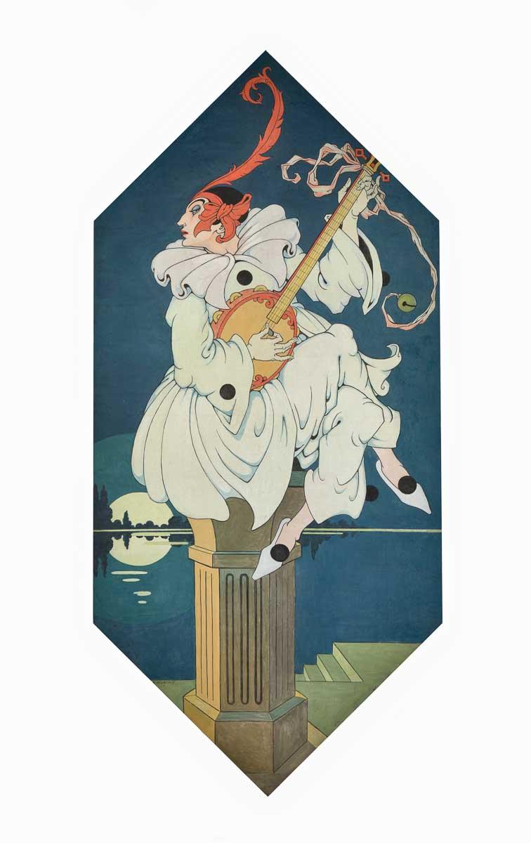 Rubino: pannello. Pierrot, olio magro su tela, 1928-30