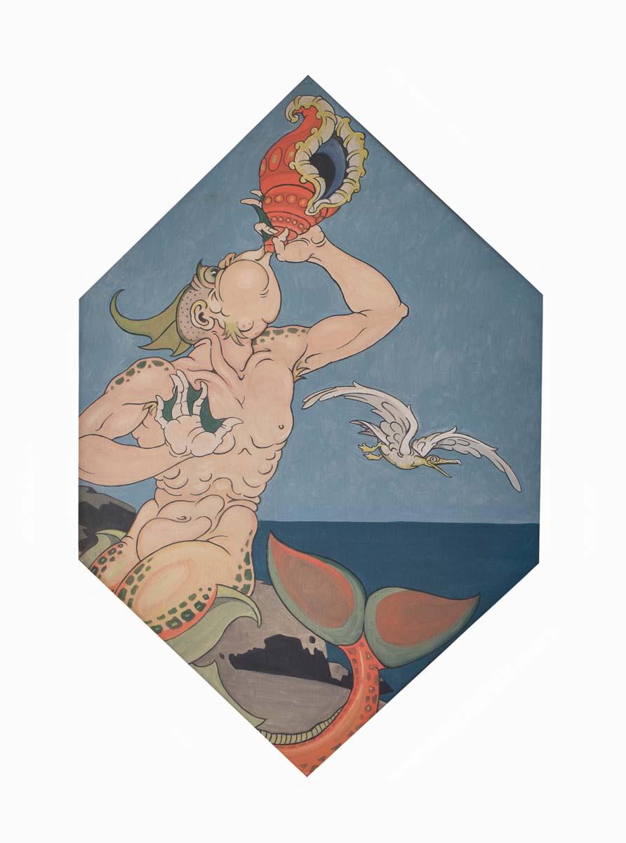 Rubino: pannello. Tritone, olio magro su tela, 1928-30