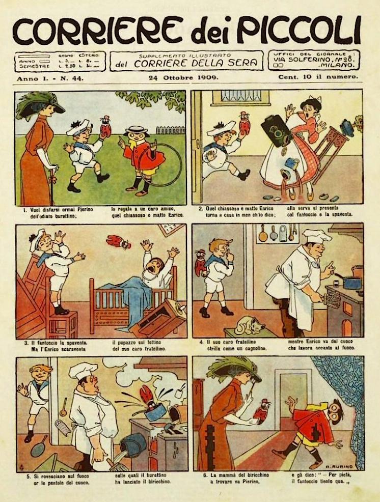 Rubino: Corriere dei Piccoli, Anno I, N. 44, 1909