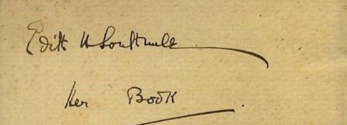 firma di Edith Southwell