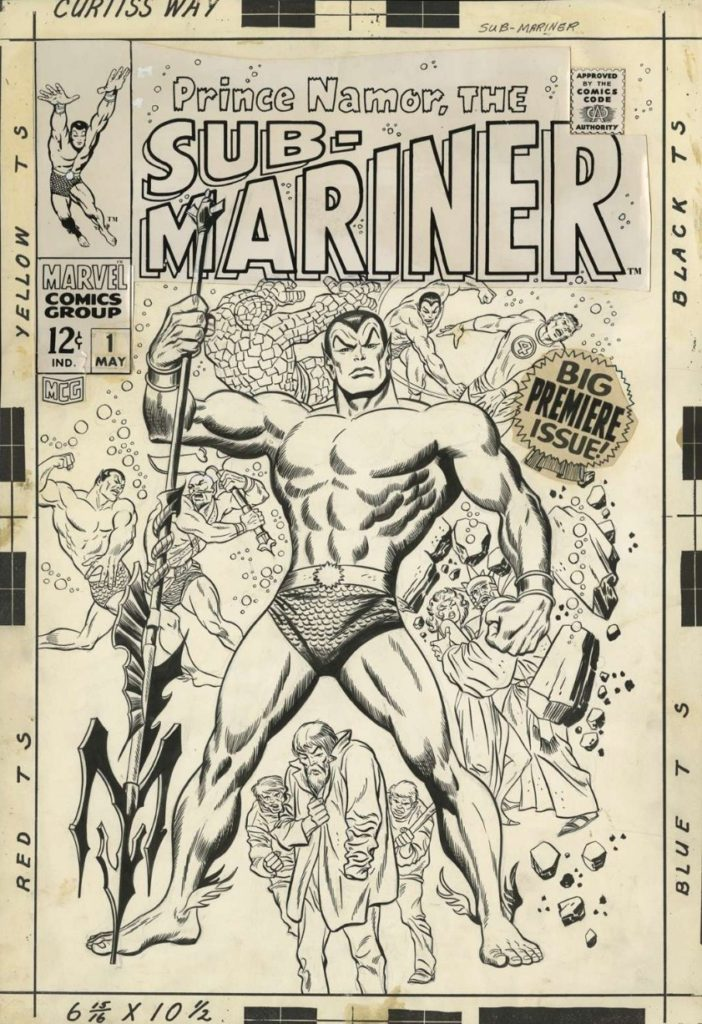 prince-namor-the-sub-mariner-issue-1-cover-by-john-buscema-and-sol-brodsky