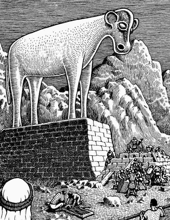 golden-calf-by-basil-wolverton