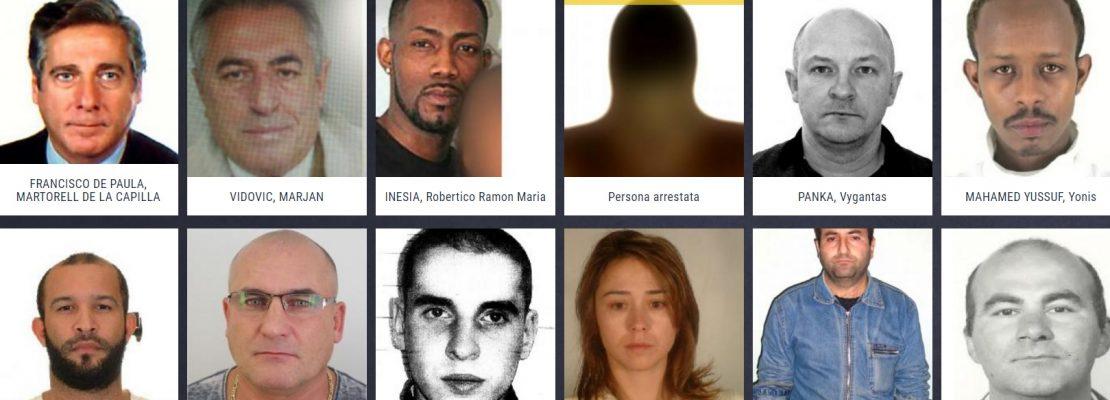 EUROPOL PUBBLICA I CRIMINALI PIÙ RICERCATI D'EUROPA