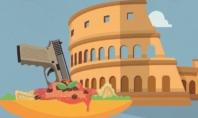 GIALLO A ROMA BORDATO DI ROSSO