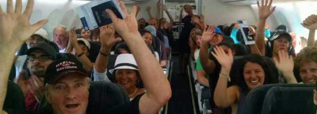 Applaudire all'atterraggio è da cafoni?